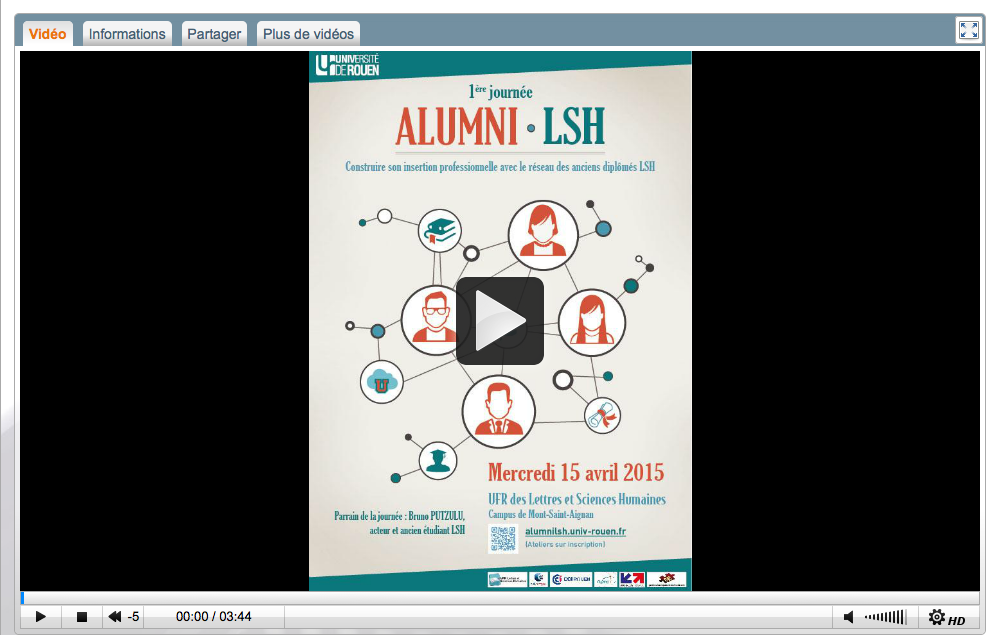 Video Journée Alumni UFH LSH 2015